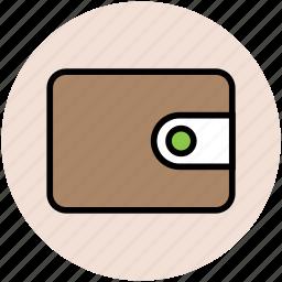 billfold wallet, coin wallet, pocket book, purse, wallet icon