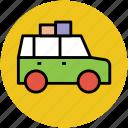 bus, minibus, transport, travel, travelling, van icon