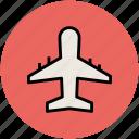 aeroplane, airbus, airliner, airplane, flight, plane, travel icon
