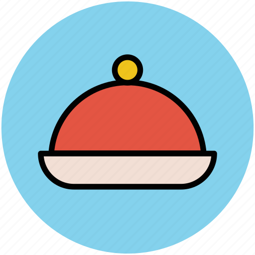 chef platter, covered food, food platter, food serving, platter, restaurant, serving platter icon