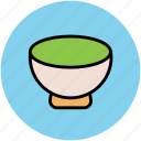 bowl, eating, food bowl, food serving, meal, platter icon