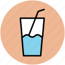 drink, glass, juice glass, lemonade, soft drink, summer drink icon
