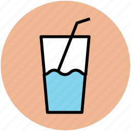 drink, glass, juice glass, lemonade, soft drink, summer drink icon