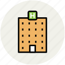 building, hotel, hotel building, lodge, real estate, restaurant icon
