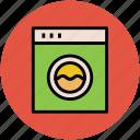 clothes dryer, electronics, home appliance, laundry machine, washer dryer, washing machine icon