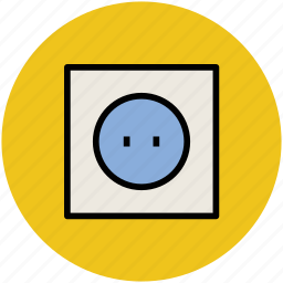 electric socket, electricity, power socket, socket, socket outline, wall socket icon