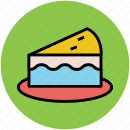 bakery food, cake, cake piece, dessert, pudding cake, sweets icon
