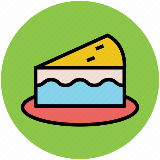 bakery food, cake, cake piece, dessert, pudding cake, sweets icon