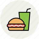 burger, drink, fast food, food, hamburger, junk food, soft drink icon