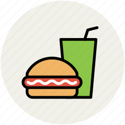 burger, drink, fast food, food, hamburger, junk food, soft drink icon
