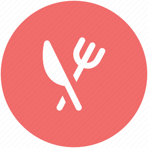 cutlery, eating, flatware, fork, knife, restaurant, utensil icon