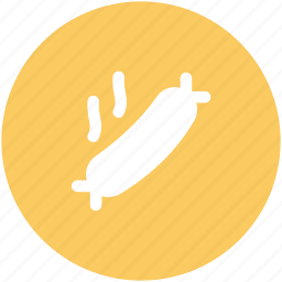 bratwurst, hot bratwurst, hot dog, meat, sausage, wiener icon