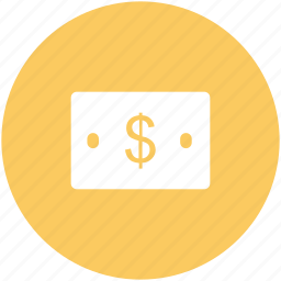 banknote, cash, currency, dollar note, financial, money icon