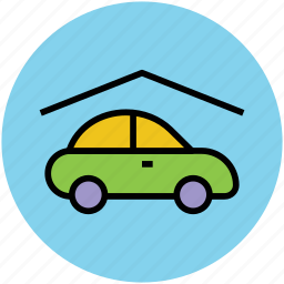 automobile, car, car parking, garage, garage service icon