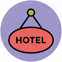 hotel, hotel information, hotel signboard, information, tourism, travel icon