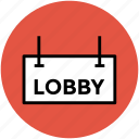 hotel information, information, information board, lobby, lobby signboard icon