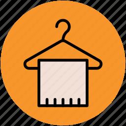 bath towel, hanger, hanger towel, towel, towel on hanger, wardrobe icon