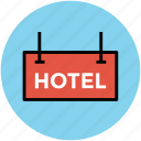 hotel, hotel information, hotel signboard, information, tourism, travel icon