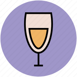 alcohol, alcoholic drink, champagne glass, drink, flute glass, wine icon