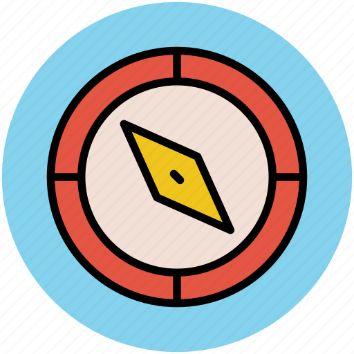 cardinal points, compass, compass rose, gps, navigation tool icon