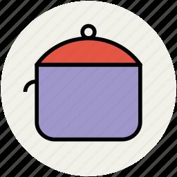 braising pan, cooking pot, cookware, kitchen ware, saucepan icon