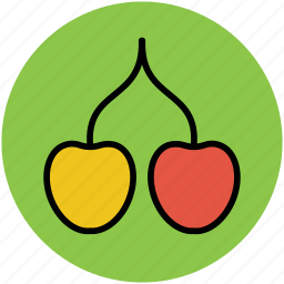 berry, cherry, diet, food, fruit, nutrition, organic icon
