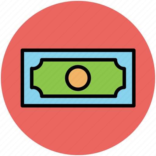 banknote, cash, currency, currency note, money, paper note, wealth icon