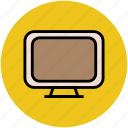 monitor, monitor screen, television, tv, tv set icon