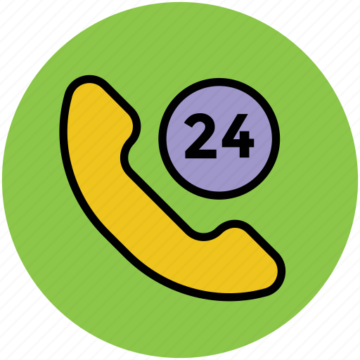 customer service, customer support, helpline, phone, telephone service, twenty four hours service icon