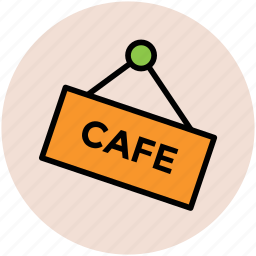 cafe, cafe counter, cafe information, cafe signboard, information, tourism, travel icon