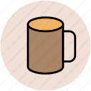 coffee mug, cup, hot beverage, hot drink, mug, tea mug icon