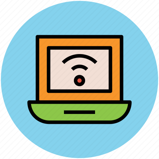 internet, laptop, wifi, wifi connection, wireless connection, wireless internet icon