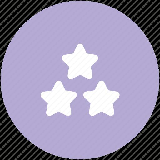 hotel ranking, ranking star, rating star, star ornament, stars, three star hotel, three stars icon