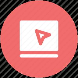 arrow, cursor, location, navigation, online gps, online map icon