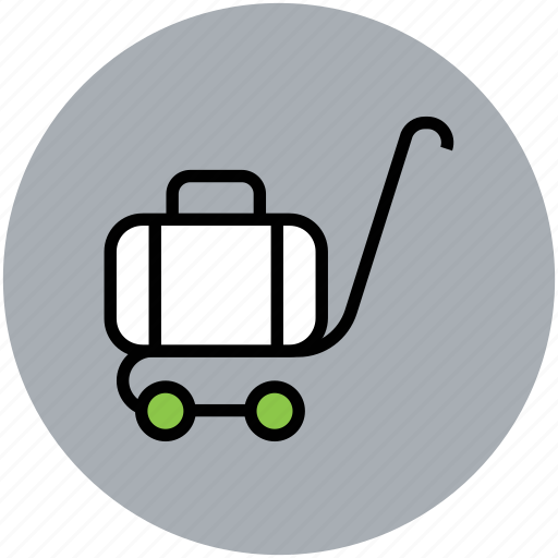hand trolley, hotel service, hotel trolley, luggage, luggage trolley icon