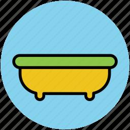 bath, bathroom, bathtub, jacuzzi tub, shower icon
