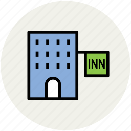 building, hotel, hotel building, inn, lodge, real estate icon