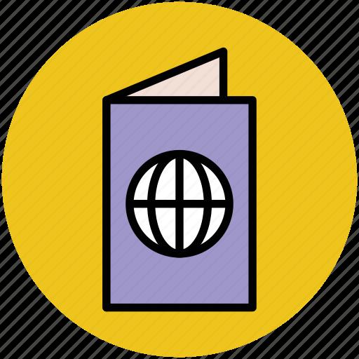 passport, tourism, travel, travel id, travel permit, visa icon