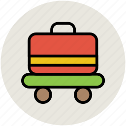 bag, hotel trolley, luggage, luggage cart, luggage trolley, suitcase icon