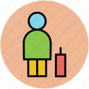luggage, man, passenger, tourist, traveller, voyager icon