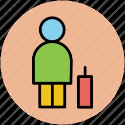 luggage, man, passenger, tourist, traveller, voyager icon