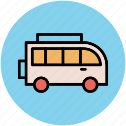 autobus, bus, coach, motorbus, motorcoach, public transport icon