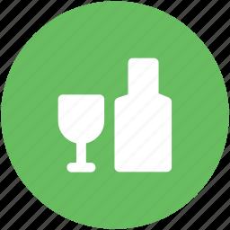 alcohol bottle, champagne bottle, drink, flute bottle, glass, wine, wine glass icon