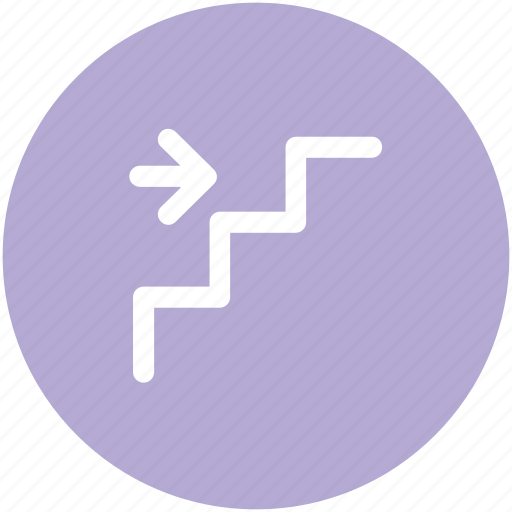 arrow, downward, staircase, stairs, stairs arrows, steps, upward icon
