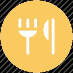 cutlery, eating, flatware, fork, knife, restaurant, utensil icon