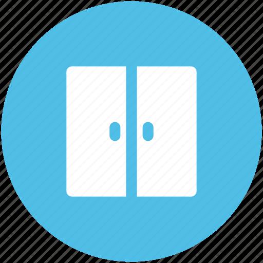 door, double door, entrance, entryway, furniture, house door, house entrance icon