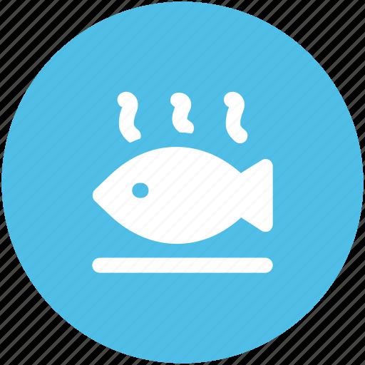 fish, fish food, fish meat, fried fish, roast fish, sea food icon