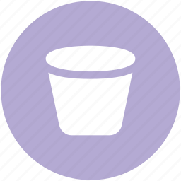 garbage can, litter bin, paper bucket, rubbish bin, trash bin, trash can icon