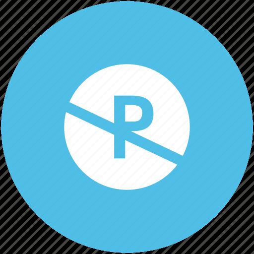 cross sign, forbid, no parking, parking ban, prohibit icon