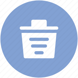 bin, delete, dustbin, remove, trash, trash can icon